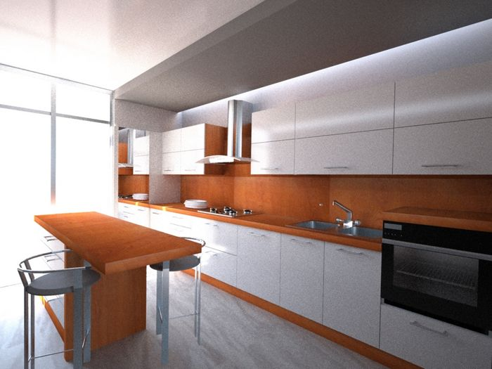 Arredi interni moderno cucine extra officine - Cucine senza elettrodomestici ...
