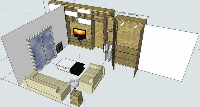 Pareti divisorie parete attrezzata divisoria extra - Pareti mobili divisorie per casa ...