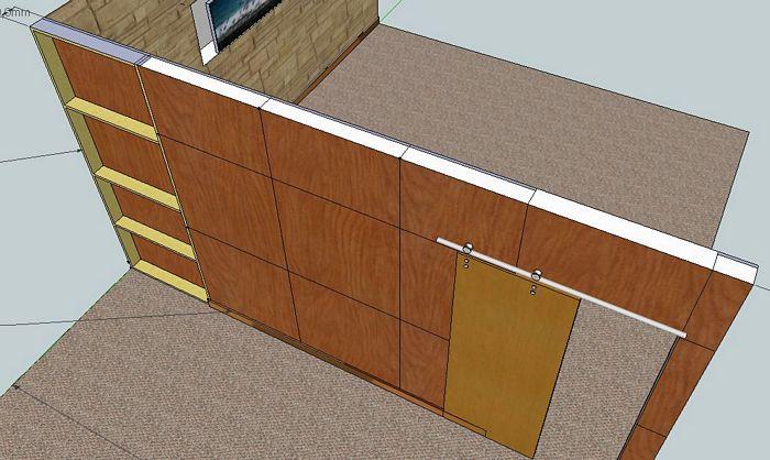 Pareti divisorie pareti divisorie in legno extra officine - Parete divisoria in legno per interni ...