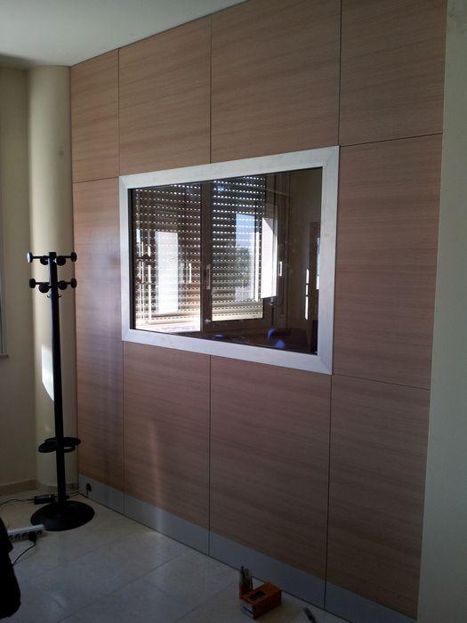 Pareti divisorie pareti divisorie in legno extra officine - Parete divisoria in vetro ...